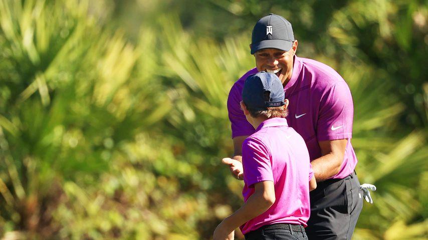 Tiger Woods und sein Sohn Charlie bei den PNC Meisterschaften 2020