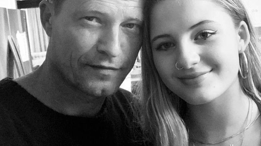 Til Schweiger mit seiner Tochter Emma