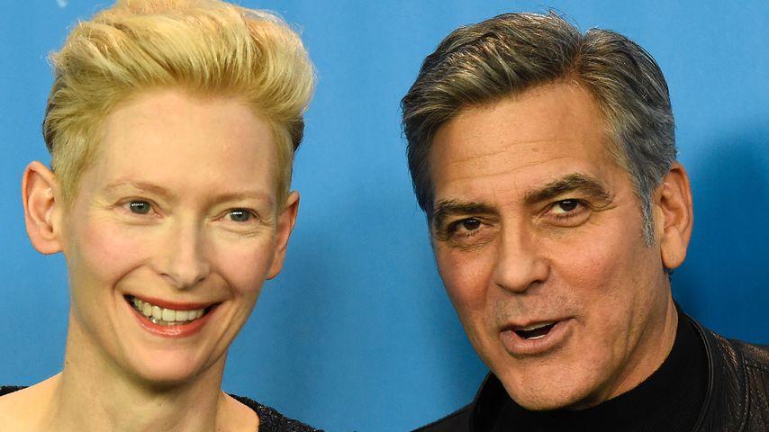 Tilda Swinton und George Clooney auf der Berlinale 2016