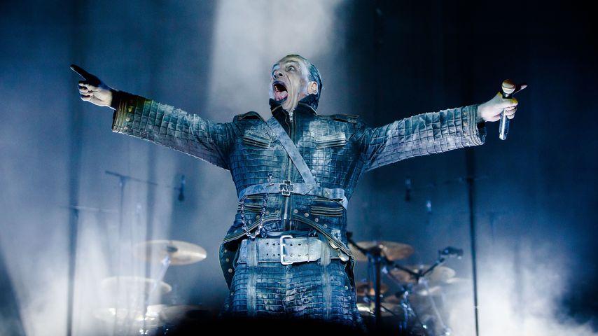 Till Lindemann bei einem Auftritt in Dänemark, 2016