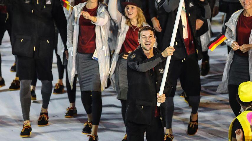 Timo Boll bei der Eröffnung der Olympischen Spiele 2016