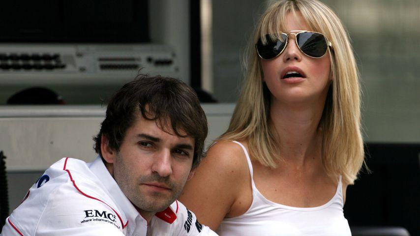 Timo Glock und seine Frau Isabell beim Formel-1 Grand Prix in Abu Dhabi, 2009