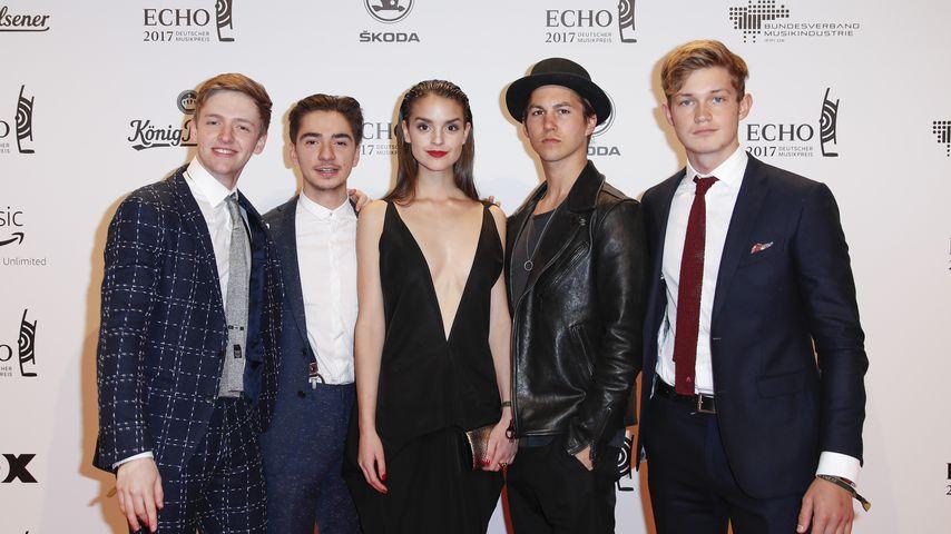 Timur Bartels, Ivo Kortlang, Luise Befort, Tim Oliver Schultz und Damian Hardung beim Echo 2017