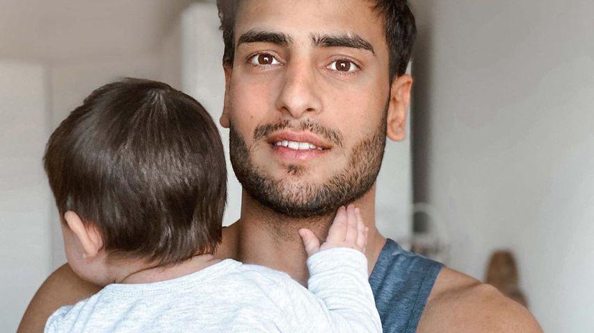 Timur Ülker mit seinem Sohn Ilay Kaan im April 2020