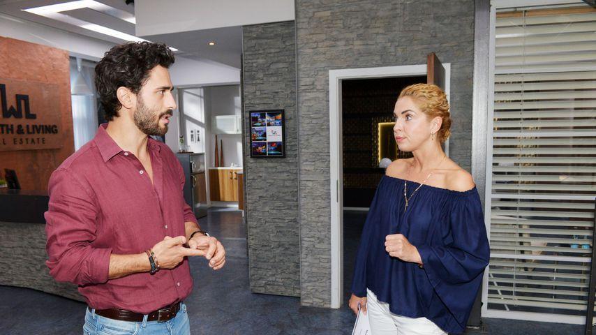 Tobias (Jan Kittmann) und Nina (Maria Wedig) bei GZSZ