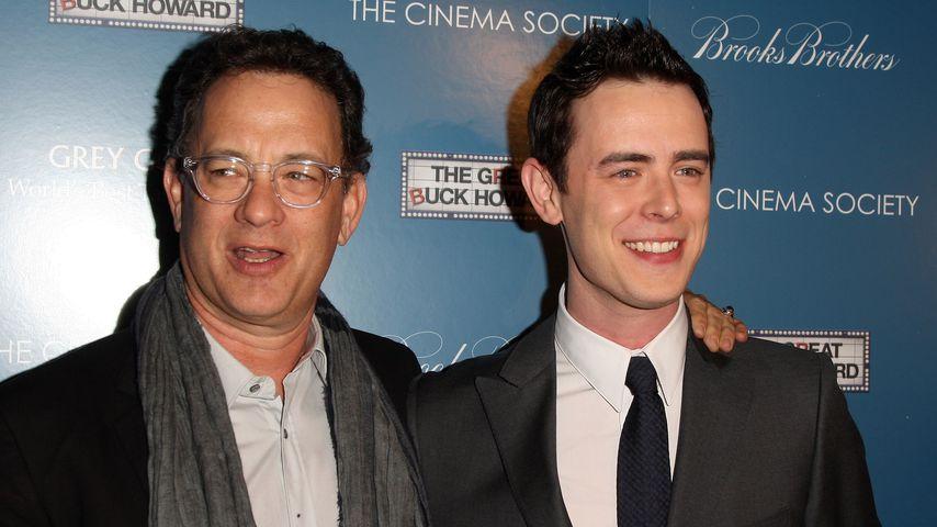 Tom Hanks und sein Sohn Colin im Jahr 2009