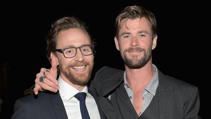 Tom Hiddleston und Chris Hemsworth