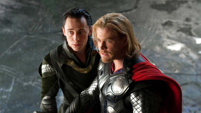 """Tom Hiddleston und Chris Hemsworth in """"Thor"""", 2011"""