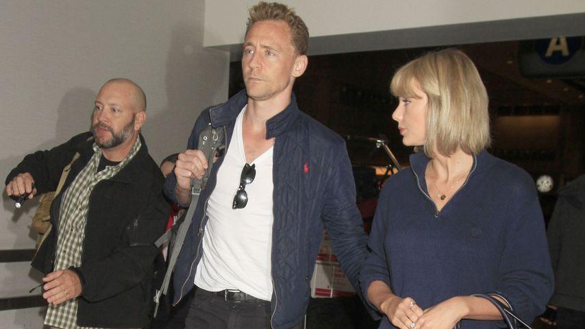 Tom Hiddleston & Taylor Swift fliegen von L.A. weiter nach Australien