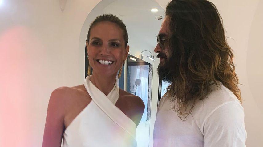 Ganz in Weiß: Hier stimmen sich Heidi & Tom auf Hochzeit ein