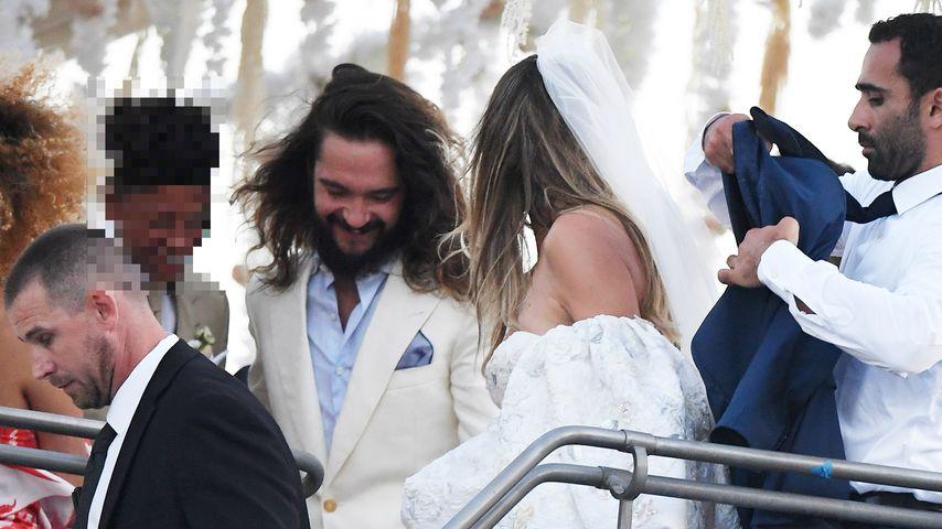 Tom Kaulitz und Heidi Klum an ihrem Hochzeitstag