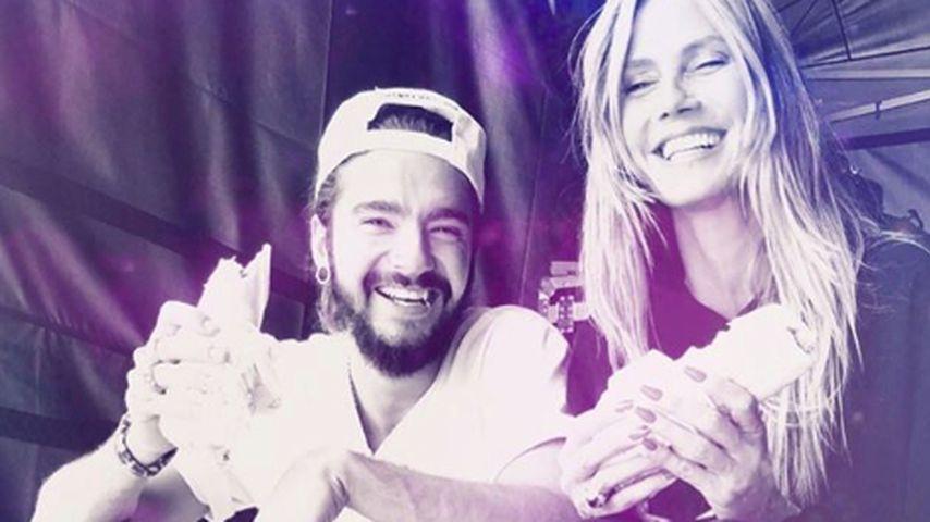 Tom Kaulitz und Heidi Klum beim Summercamp von Tokio Hotel