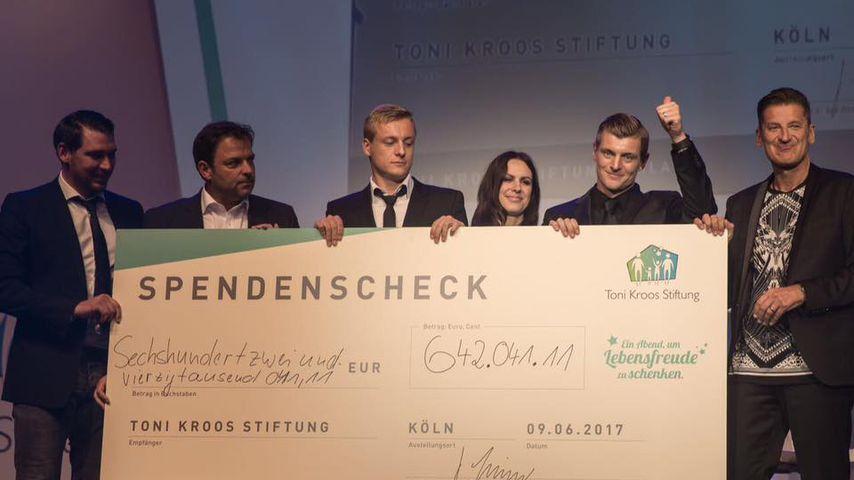 Toni Kroos während seiner Spenden-Gala