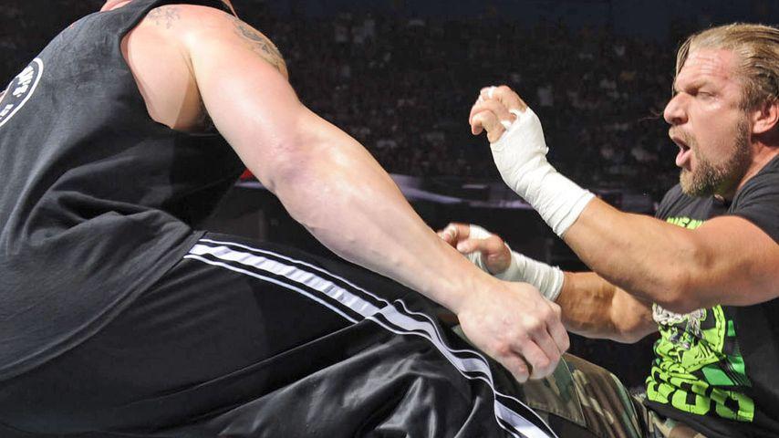Killer-Kampf: Triple H und Brock Lesnar ohne Gnade
