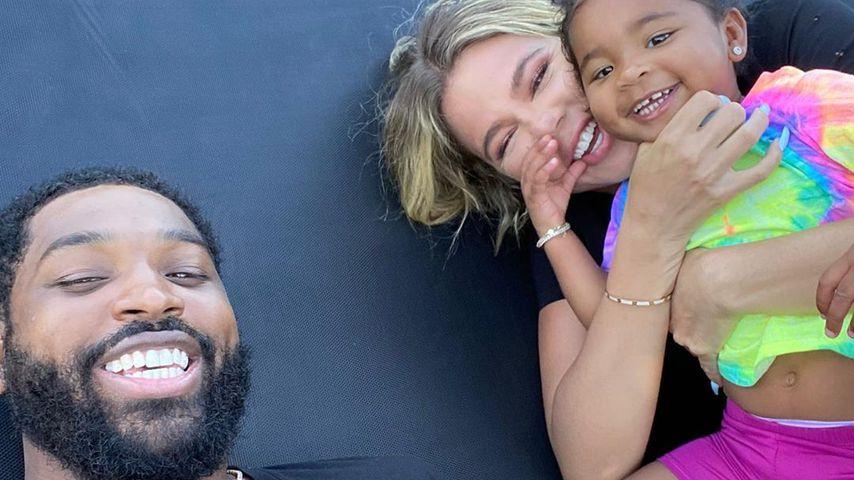 Tristan Thompson mit Khloé Kardashian und Tochter True
