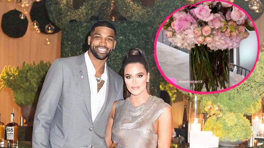 Zum Trost? Tristan schickt Khloé Kardashian XXL-Blumenstrauß