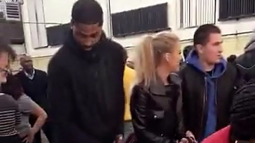 Tristan Thompson und Khloe Kardashian bei Essensausgabe für Hilfsbedürftige