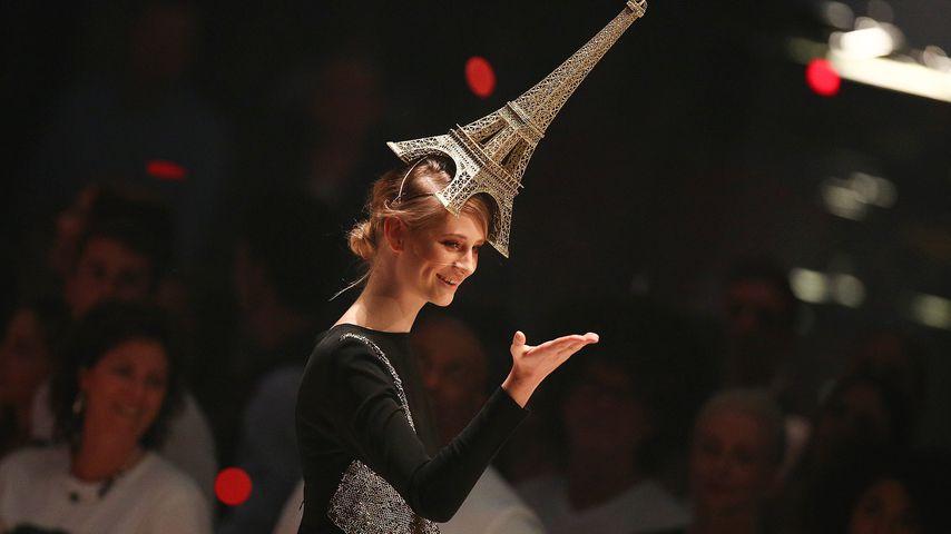 Ex-GNTM-Kandidatin Trixi Giese beim Finale der Modelshow 2018