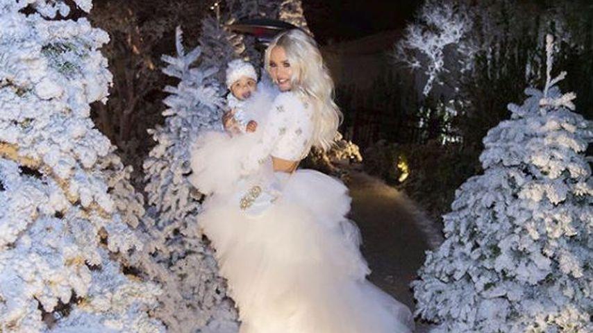 True Thompson und Khloe Kardashian an Weihnachten 2018