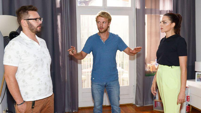 Tuner (Thomas Drechsel), Paul (Niklas Osterloh) und Emily (Anne Menden) bei GZSZ