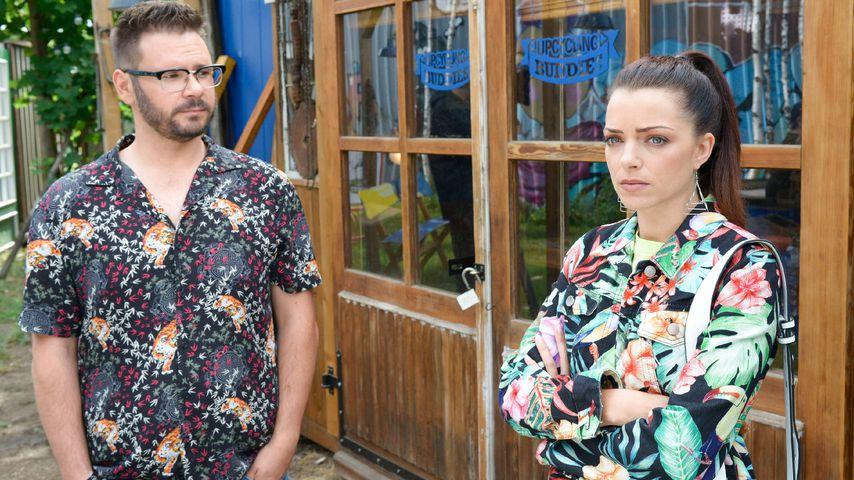 Tuner (Thomas Drechsel) und Emily (Anne Menden) in einer GZSZ-Szene