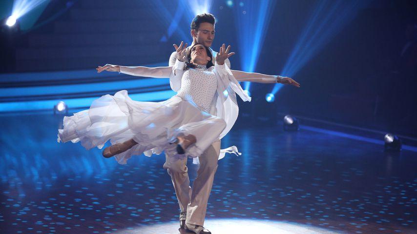 """Ulrike Frank und Robert Beitsch im April 2019 bei """"Let's Dance"""""""