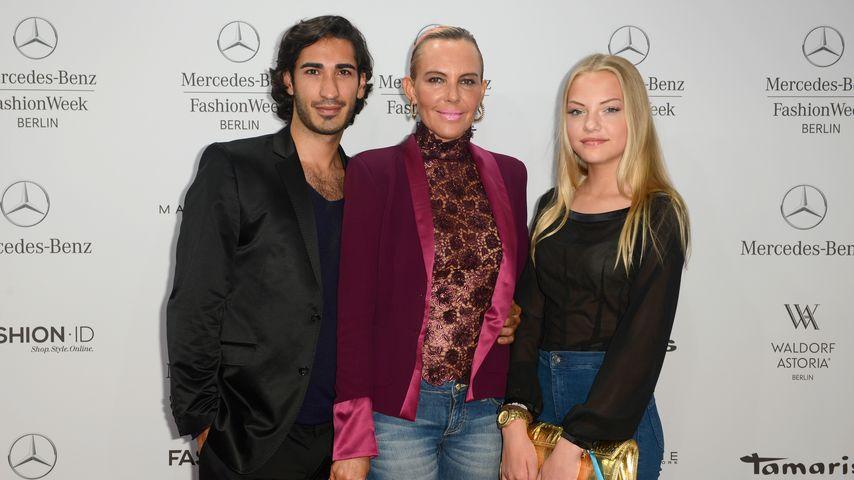 Umut Kekilli, Natascha und Cheyenne Ochsenknecht bei einer Guido Maria Kretschmer Fashion Show
