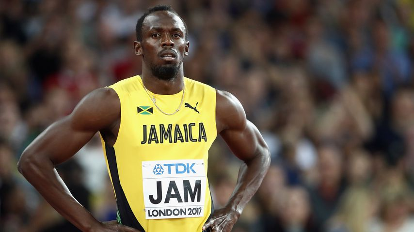 Usain Bolt im Finale der Männer-Staffel über 4x100 Meter bei der Leichtathletik-WM in London