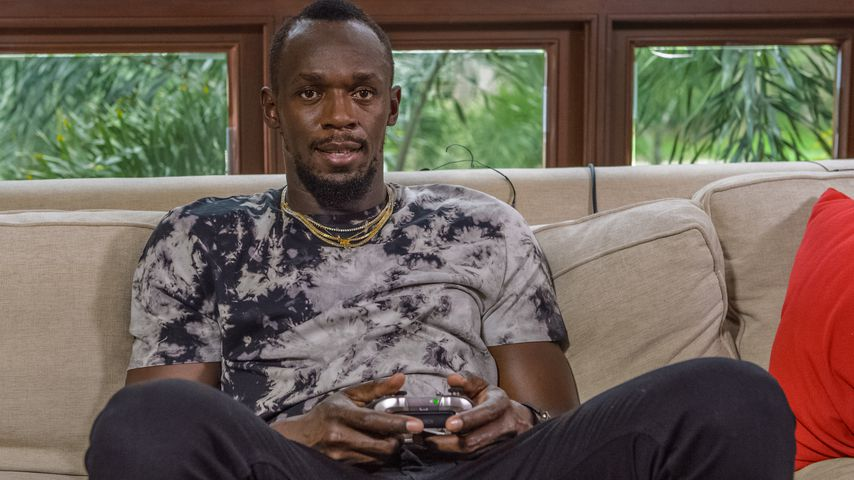 Usain Bolt bei der Xbox-Game-Pass-Challenge in Jamaica im April 2018