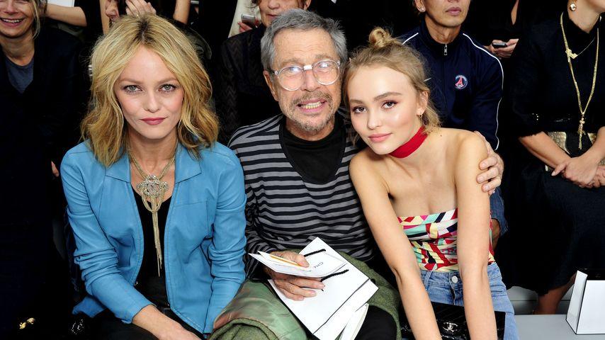 Vanessa Paradis, Jean Paul Goude & Lily-Rose Depp bei der Paris Fashion Week
