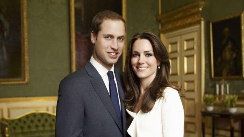 Offizielles Verlobungsbild von Prinz William und Kate Middleton
