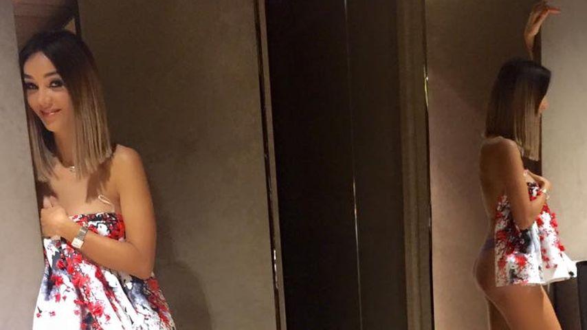Spiegel-Trick: Hier zeigt Verona Pooth (47) ihren blanken Po