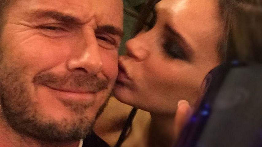 Intim-Schnappschuss: Victoria Beckham küsst David