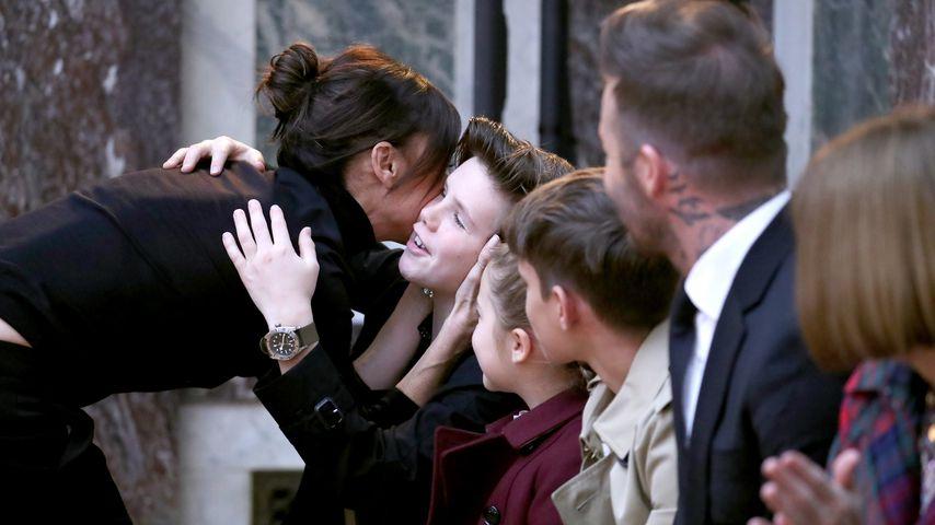 Victoria Beckham und ihre Familie bei ihrer Fashionshow im Februar 2018 in New York