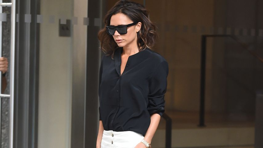 Victoria Beckham vor ihrem Hotel in New York City