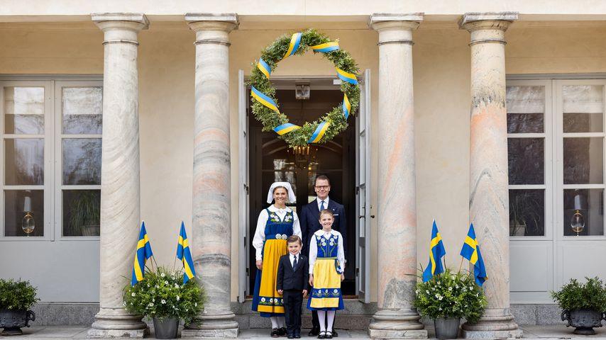 Prinzessin Victoria, Prinz Daniel, Prinz Oscar und Prinzessin Estelle
