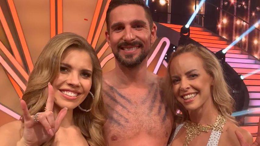 """Victoria Swarovski, Benjamin Piwko und Isabel Edvardsson beim """"Let's Dance""""-Finale 2019"""