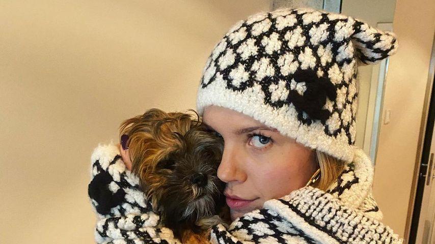Victoria Swarovski und ihr Hund Winnie im Februar 2020
