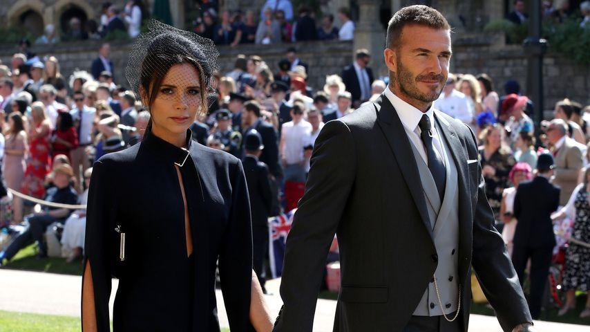 Victoria und David Beckham bei der Hochzeit von Prinz Harry und Herzogin Meghan