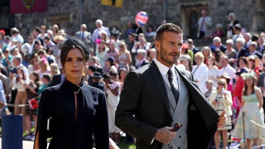 Victoria und David Beckham 2018 in England