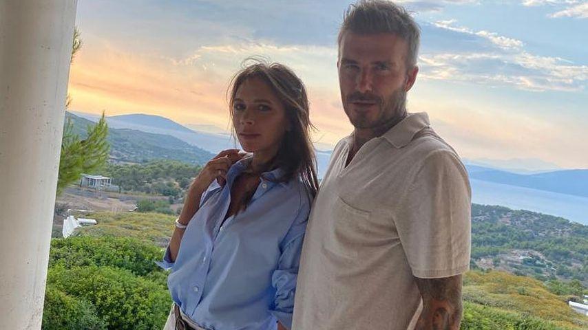 Victoria und David Beckham im August 2020