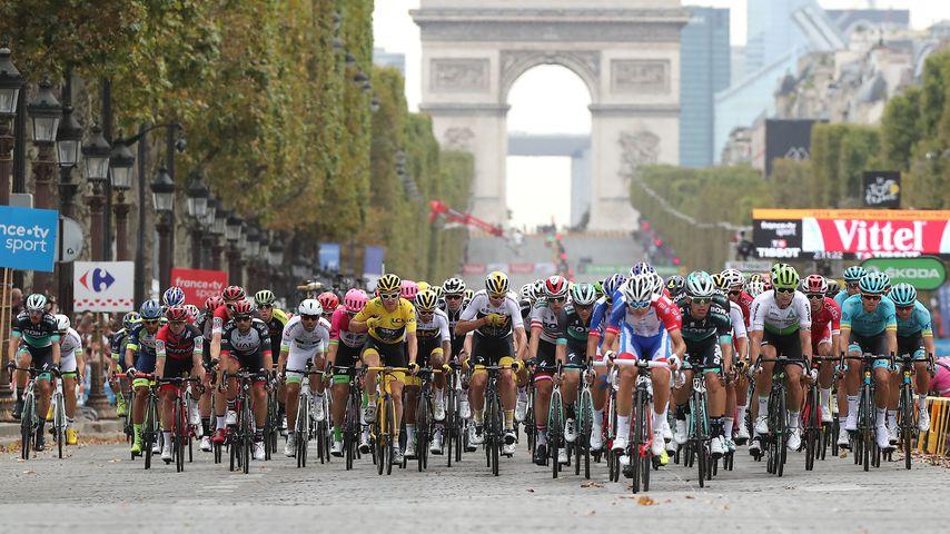 Radprofis bei der Tour de France