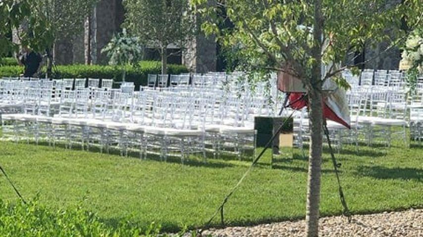 Stuhlreihen für die Hochzeit von Jax Taylor und Brittany Cartwright