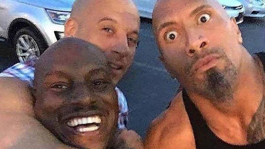 """Vin Diesel, Tyrese Gibson und Dwayne """"The Rock"""" Johnson"""