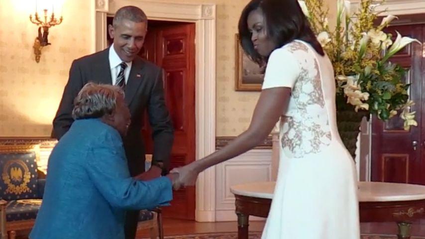 Tanz-Oma: 106-Jährige zeigt den Obamas witzige Moves