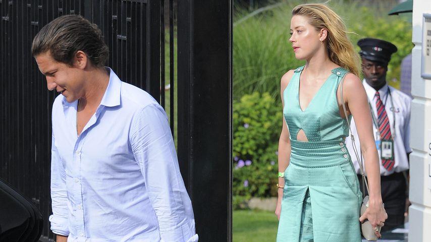 Vito Schnabel und Amber Heard beim Wimbledon-Tennisturnier
