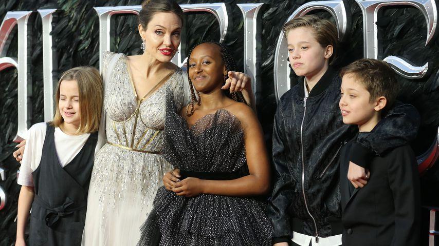 Vivienne, Angelina, Zahara, Shiloh und Knox Jolie-Pitt