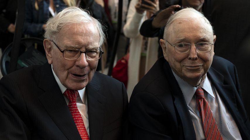 Warren Buffett und Charlie Munger beim jährlichen Treffen der Berkshire-Hathaway-Aktieninhaber, 2019