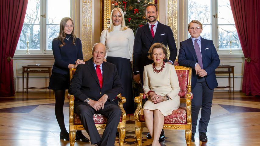 Weihnachtsportrait der norwegischen Königsfamilie 2018