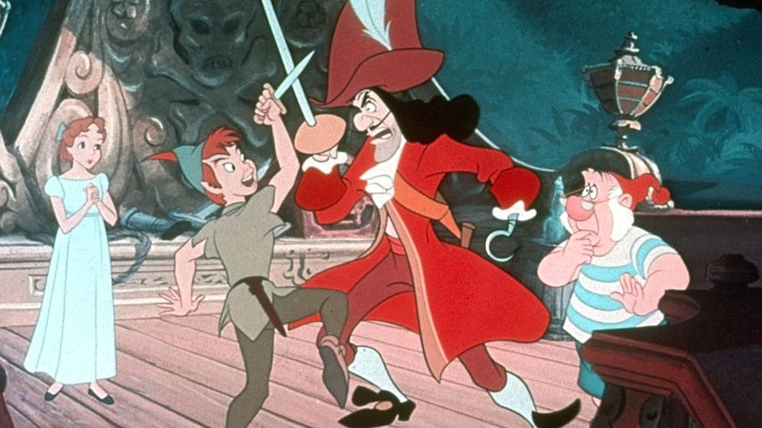 "Wendy, Peter Pan, Kapitän Hook und Mr. Smee aus ""Peter Pan"""